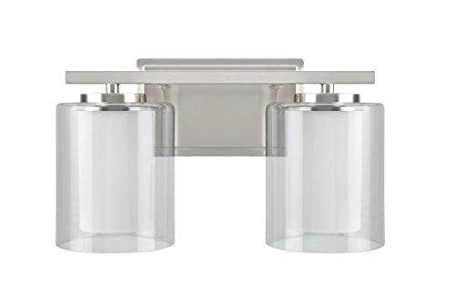 Aspen Creative 62102, Two-Light Metal Bathroom Vanity Wall Light Fixture, 13 1/2