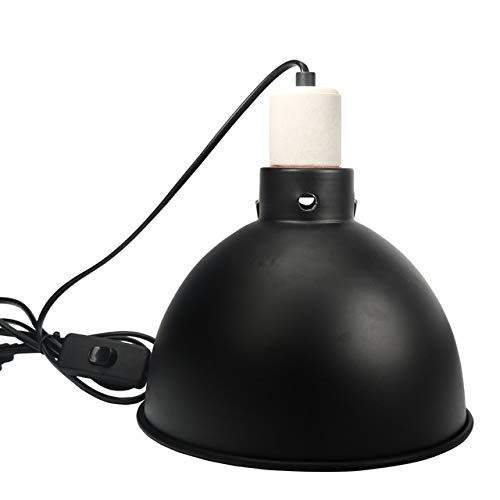 Premium Reflector Domes,E27 UVA UVB Turtle Heating Bulb Holder Reptile Heating Lamp Stand Heating Lampshade (No Bulb Included)