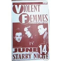 Violent Femmes Original 1988 Punk Flyer Concert Poster