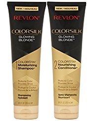 Revlon Colorsilk Colorstay Moisturizing Shampoo & Conditioner Set, Glowing Blonde, 8.45 Oz Each (Revlon Shampoo Colorstay)