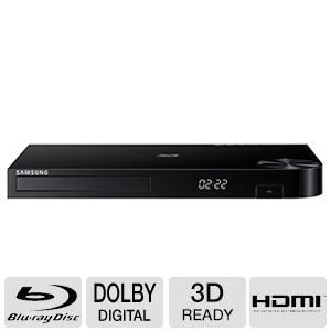 Samsung Blu-ray DVD Disc Player With Built-in Wi-Fi 1080p & Full HD Upconversion, Plays Blu-ray Discs, DVDs & CDs, Plus 6Ft High Speed HDMI Cable, Black Finish by Samsung