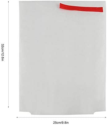 Yosoo メッシュバッグ 果実袋 果実防虫袋 種もみ袋 防虫 種籾 ネット袋 種籾消毒袋メッシュバッグ 害虫鳥避け 穴極細 多用途 園芸工具 農業用 (26*38cm-ホワイト)
