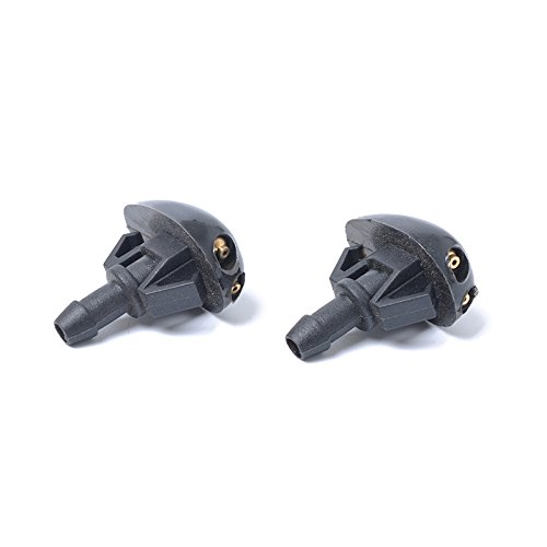 Leoie One Pair Windshield Washer Fluid Spray Jet Nozzle for Nissan 289313S500