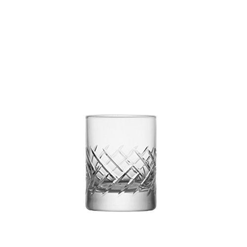 Crystal Barware Sets - Schott Zwiesel Tritan Crystal Glass Distil Barware Collection Arran Juice/Whiskey Cocktail Beverage Tumblers (Set of 6), 5.1 oz, Clear
