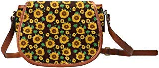 InterestPrint Cute Yellow Sunflowers Women's Boho Crossbody Bag, Sling Shoulder Purse