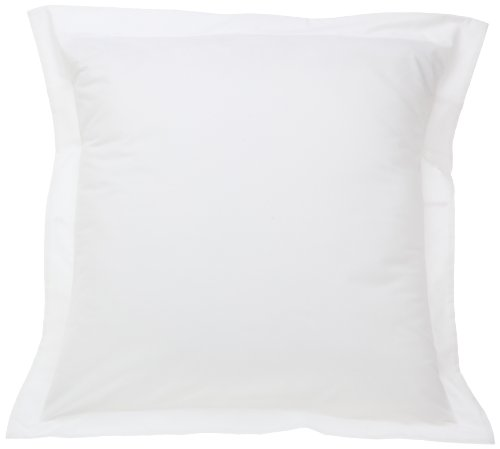 Fresh Ideas Tailored Poplin Pillow Shams – Gorgeous Decorative Bed Pillowcover – White, European, 1 PC (26 x 26 Inches)