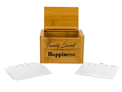 (Personalized Recipe Box - Custom Wood Recipe Box)