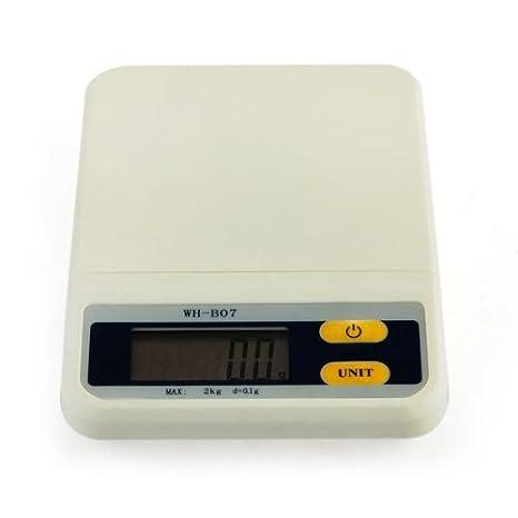 Báscula digital - Báscula de cocina de precisión portátil (2 kg/0,1g Color Blanco: Amazon.es: Bricolaje y herramientas