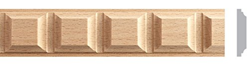 1-1/2''W X 1/4''TH X 8'L, 10pc Total 80ft. Beech Wood Square Molding Corbel, Moulding Trim. Onlay MB873A by Zakros Design