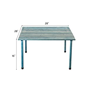 VYTAL Roll-Up Picnic Table (Blue Wash) - Portable table perfect for outdoor events, camping, beach, backyards, bbq and parties