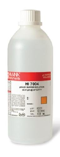 - Hanna Instruments HI7004L 4.01 pH Calibration Buffer Solution, 500mL Bottle