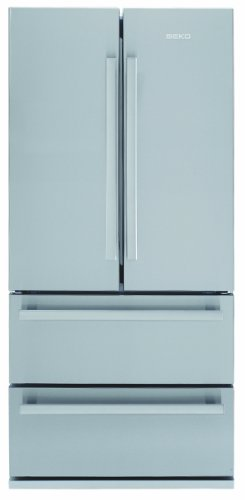 Beko GNE 60020 X Side by Side / A+ / Kühlen: 384 L / Gefrieren: 149 L / Edelstahl Fingerprint Free / No Frost / French Door / 0°-Zone