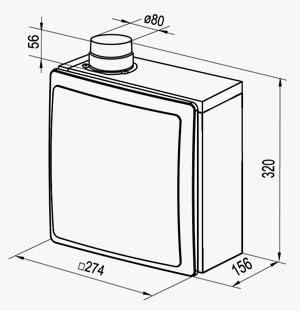 - Ventilator /Ø80 f/ür Band WC K/üche Unterputz VNV-1B 80 KV TR L/üfter