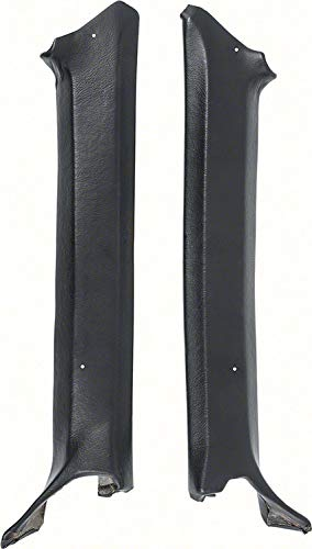 OER Black Pillar Post Molding Set 1969 Chevy Camaro Coupe Models