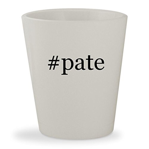 #pate - White Hashtag Ceramic 1.5oz Shot Glass Smoked Foie Gras
