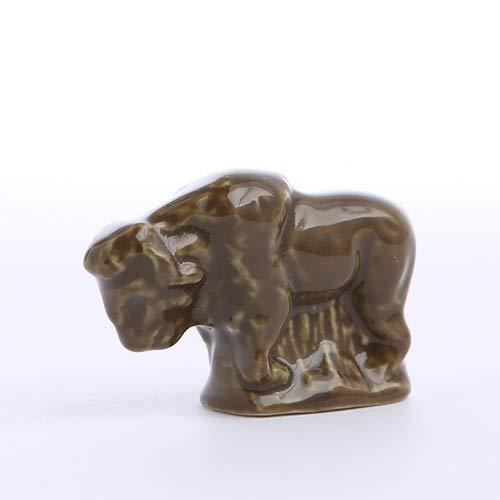 (American Heritage Series Bison Wade Whimsies Red Rose Figurine)