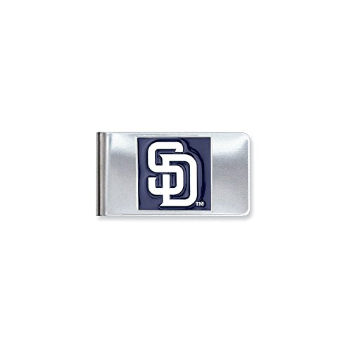 (ICE CARATS MLB Siskiyou Buckle San Diego Padres Money Clip Man Fashion Jewelry Gift for Dad Mens for Him)