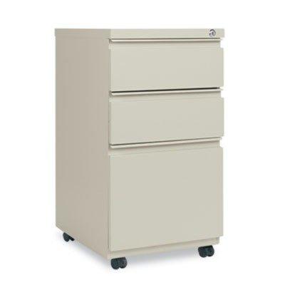15-7//8w x 19-1//4d Three-Drawer Mobile Pedestal File W// Full-Length Pull Alera PB532819PY Putty