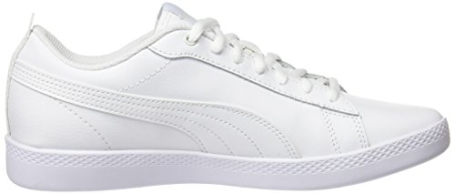 Amazon.com | Puma Women Smash WNS V2 L Low-Top Sneakers, White (Puma ...