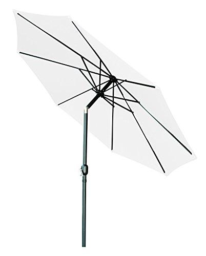 Trademark Innovations Crank Patio Umbrella, White, 10'