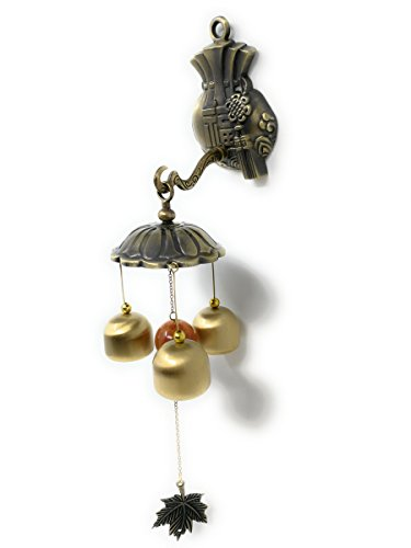 THY COLLECTIBLES Feng Shui Brass Door Chime Wind Chime windbell – Chinese Fu (Fortune) And Chinese Knotting Design Review