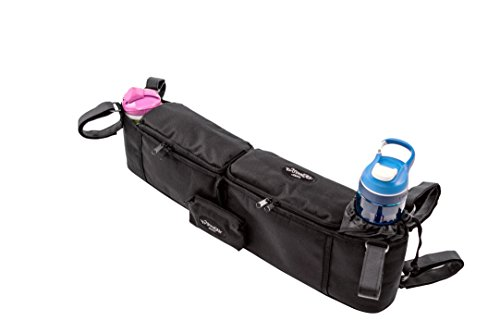 StrollAir Universal Twin/Double Stroller Organizer/Parent Console, Black