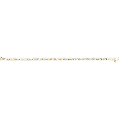 14k Yellow Gold Diamond Bracelet 4 1/2ct