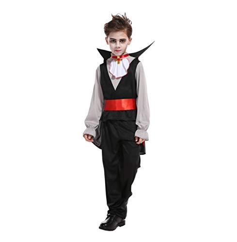 Child Boy Party Halloween Earl Vampire Costume Fantasia Prince -