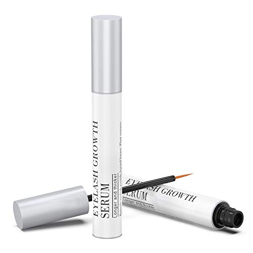 Natural Eyelash Growth Enhancer & Brow Serum for Long, Luscious Lashes and Eyebrows - German Formula for Safe & Rapid Growth ()