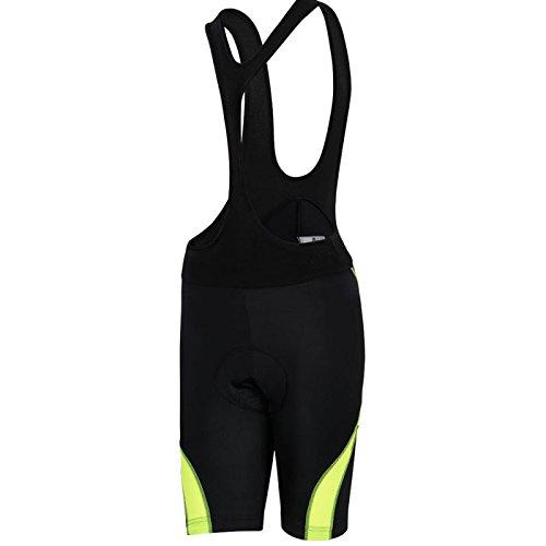 (Women's 6D Padded Classic Bib Cycling Bib Shorts Black/Fluorescent)