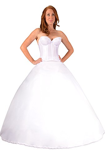 Bridal Dresses Petticoat Crinoline Slip for Wedding Dress Ball Gown, Made in USA. Proper Fullness Makes Optically Smaller Waist, Shows Bridal Dress Embellishments and Prevents Costly Hem Alterations. Give Your Dress the Shape it Needs - Buy (Alfred Angelo Bridal Coats)