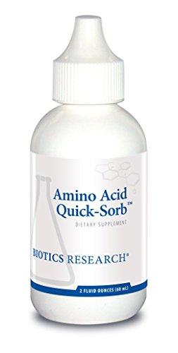 (Biotics Research Amino Acid Quick SorbTM- Liquid Formula, Highly Absorbed, Glycine, L-Alanine, L-Arginine HCl, L-Lysine HCl, L-Proline, L-Histidine HCl, L-Serine, L-Threonine, L-Valine 2fl oz)