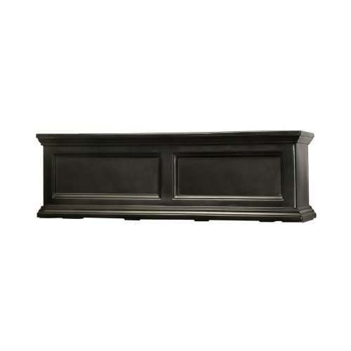 Flower Box Teak - Mayne Fairfield 5822B Window Box Planter, 3-Foot, Black