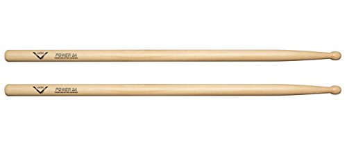 - Vater 3A Power Wood Tip Hickory Drumsticks, Pair