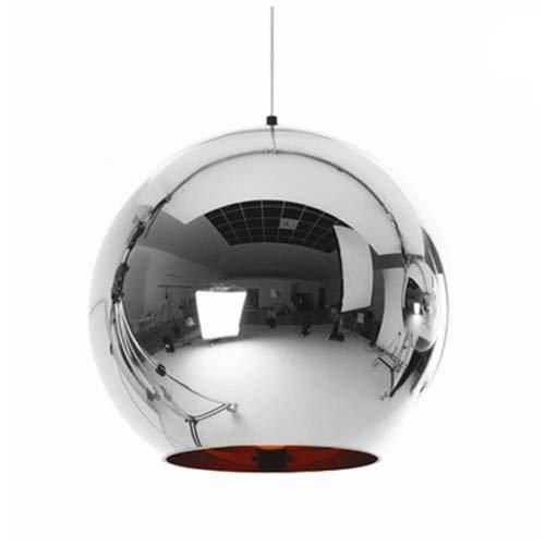 RanMory31 Glass Pendant Shade Copper Sliver Shade Mirror Chandelier Light E27 Bulb Led Pendant Lamp Modern Christmas Glass Ball Lighting