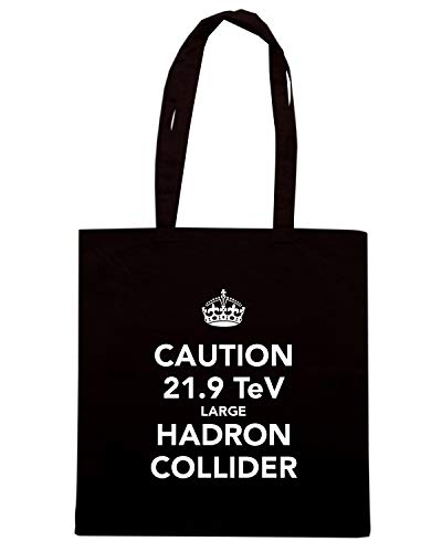 Shopper LARGE Speed Nera TKC3575 Borsa TEV COLLIDER HADRON 9 CAUTION Shirt 21 f7q7CU