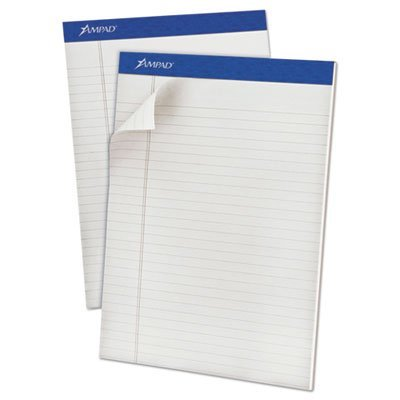 Pastels Pads, Legal/Legal Rule, Letter, Gray, 50-Sheet Pads, Dozen, Sold as 12 Each Ampad Evidence Pastel Perforated Pad