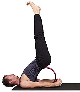SukhaMat Yoga Wheel - Pro Series - Dharma Yoga Prop Wheel for Deeper Poses, Back Stretcher and Tension Release, with Pose Guide & Online Videos, 12.5 ...