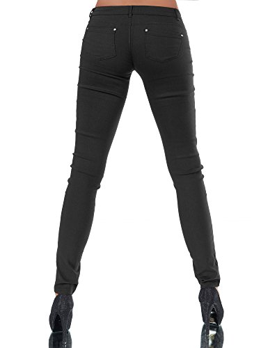 Jeans Basic Nero jeans Jeggings Diva Donna FqH5Bw