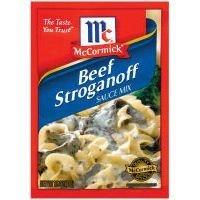 Beef Stroganoff Mix - McCormick Beef Stroganoff Seasoning Sauce Mix, 1.5oz Packet (Pack of 6)