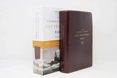 KJV, Charles F. Stanley Life Principles Bible, 2nd Edition, Leathersoft, Burgundy, Comfort Print: Growing in Knowledge and Understanding of God Through His Word (7 Gifts Of The Holy Spirit Understanding)