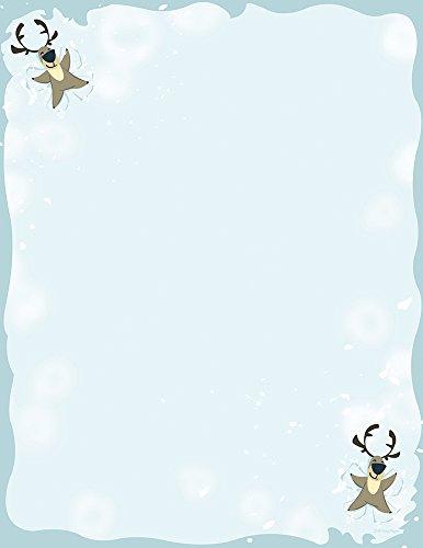 (Great Papers! Reindeer Snow Angel Holiday Letterhead, 8.5