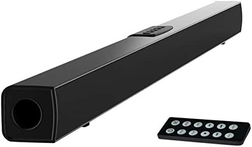 TV Sound Bar, Meidong Bluetooth Soundbar with Built-in Subwoofer, 36 inch 2.0 Channel Home Theater Speakers, Wireless and Wired Bluetooth Audio for TV/PC/ Phones/Tablets/ Echo dot (2017 Model)
