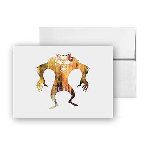 Werewolf Halloween Transformation Man Lycanthrope, Blank Card Invitation Pack, 15 cards at 4x6, with White Envelopes, Item 671104