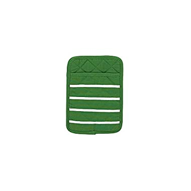 Kate Spade Grosgrain Stripe Pot Holder, 7 x 10 , Picnic Green