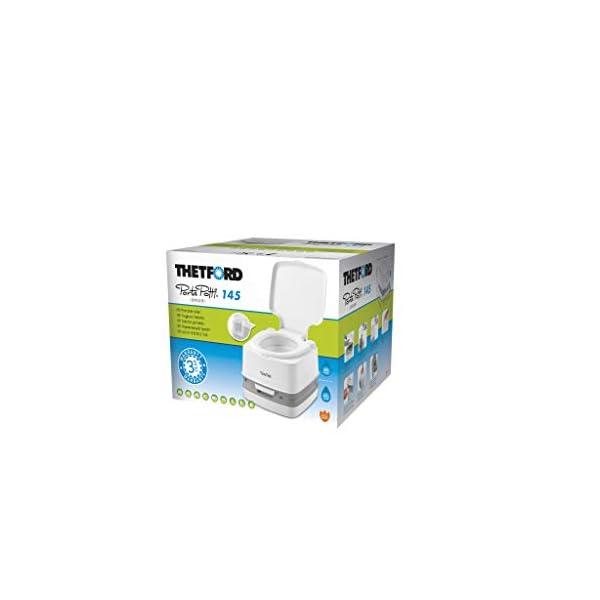 31NOzH6VkCL Thetford 92802 Porta Potti 145 Tragbare Toilette Qube, Weiß-Grau, 330 x 383 x 427 mm