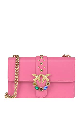 Pinko Women s Mcglbre000005087e Fuchsia Leather Shoulder Bag fdc964dad60