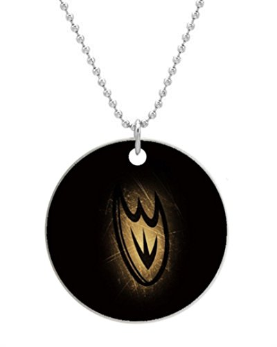 """Anaheim Ducks New Round Dog Tag Or Cat Tag with Neck Chain photo (One Side), Dog Tag Size 1.7inches in Diameter,comes with 30"""" inches inch 2mm Stainless Steel bead chain"""