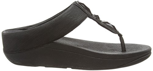 Fitflop Sweetie Toe-post - Sandalias para Mujer Negro (All Black 090)