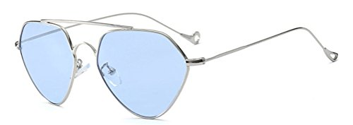 GAMT Light Tint Aviator Sunglasses for Men and Women Vintage Metal Frame - Light Tint Blue